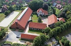 Luftaufnahme des DIPO-Hauptsitzes in Dülmen, Münsterland