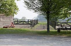 Schöne Paddocks in der Pferdepension