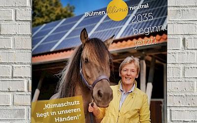 Klimaschutz-Plakat mit Beatrix Schulte Wien